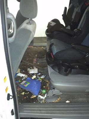 Minivan Clean out