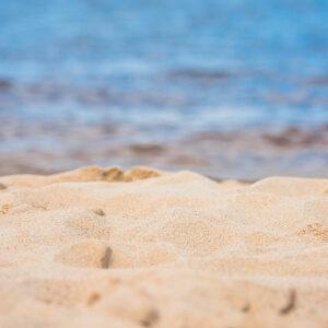 sand by ocean