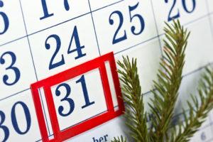 Desk calendar. Dec. 31