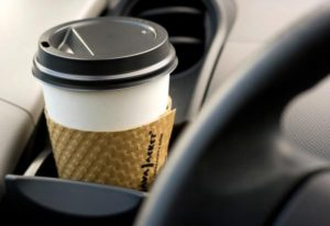 coffee in car