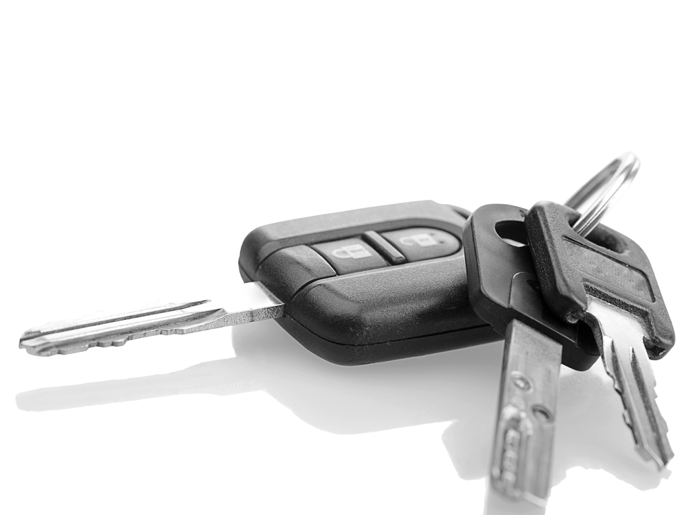 Car Key, Mul-T-Lock, Thule trunk keys. With shadow and clipping path