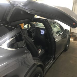 clear window tint tesla
