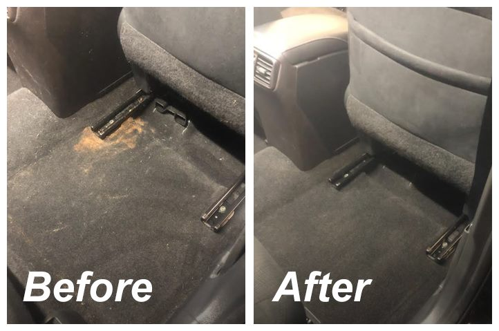 before and after auto carpet detail