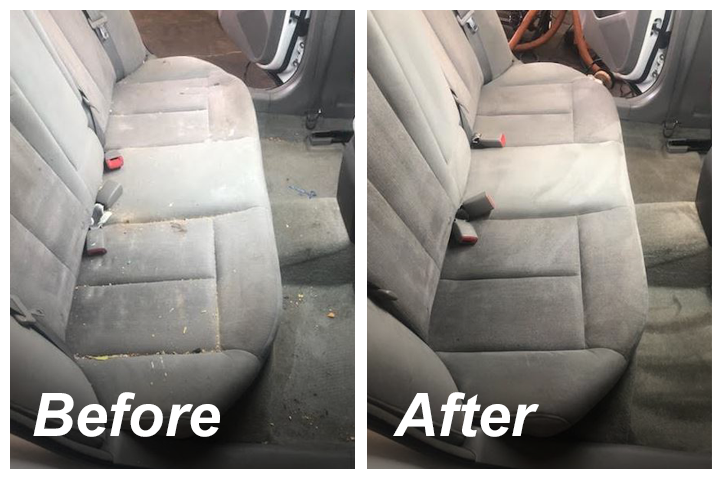 Before & after backseat detail