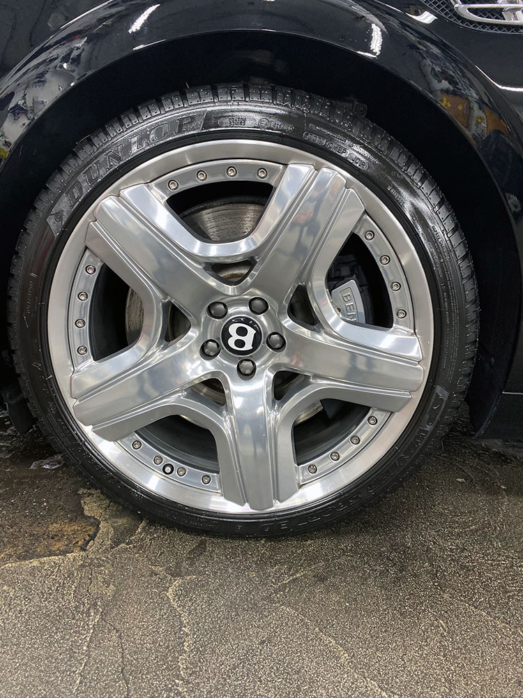 bentley wheel and tire after