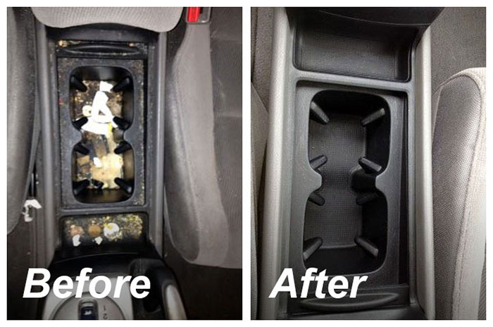 Detailing cup holders