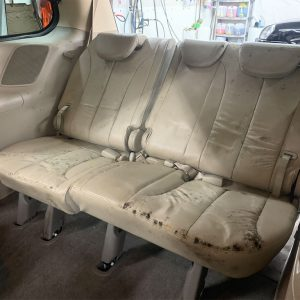 Three seat backseat with mold