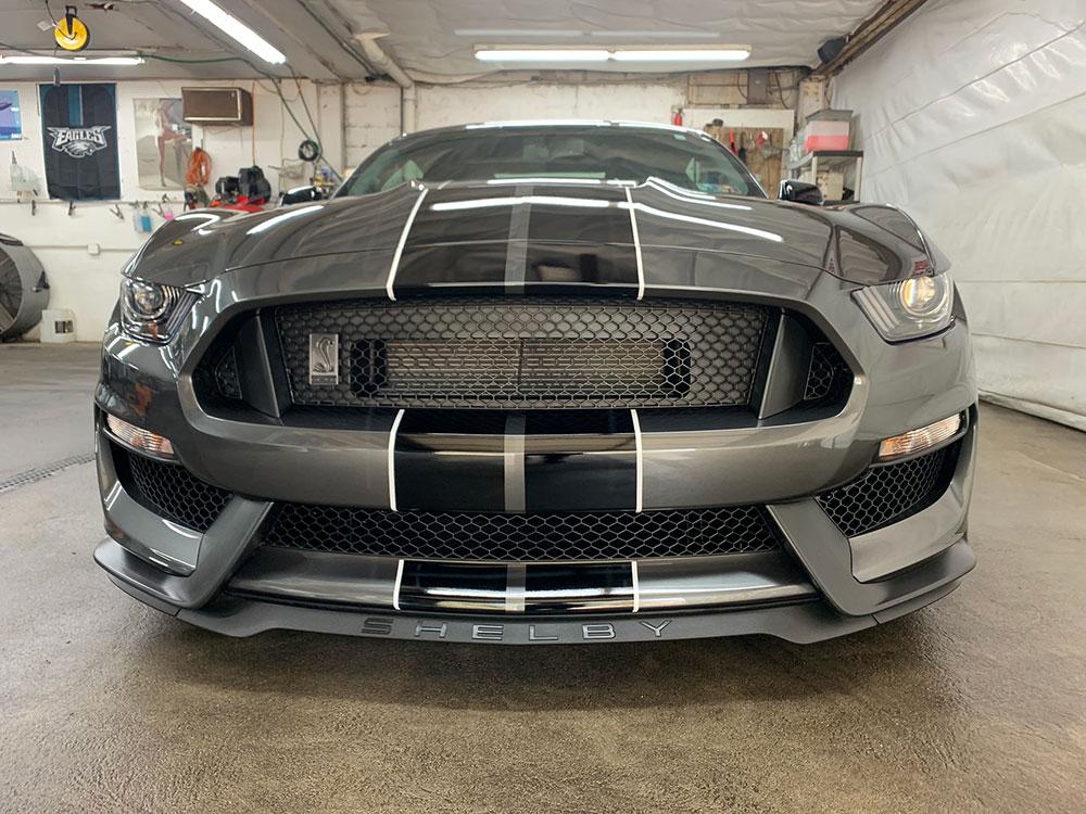 Bottom shot of Mustang