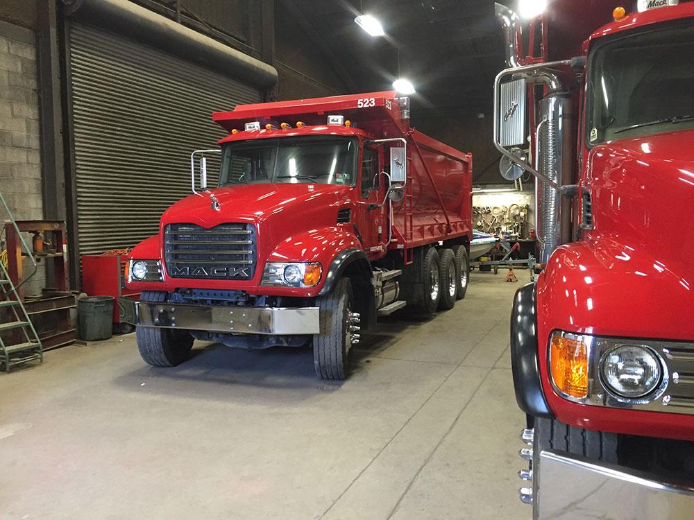 Mack truck after detail