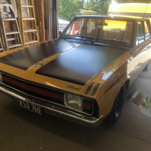 After exterior of Plymouth Valiant