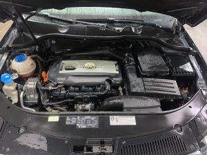 Volkswagen engine after detail